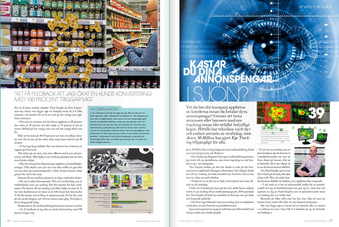 2-sidig artikel i tidningen Starta & Driva Företag.